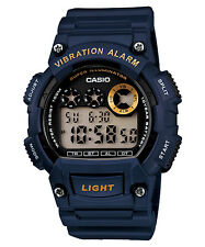 NEW Casio W-735H-2A Men's Sports Vibration Alarm Digital100M Resin Band Watch