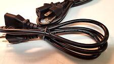 Lot of 5 KEMA-KEUR H03VVH2-F  4'  NEW   Power cord HO3VVH2-F - 10amp 250v rating