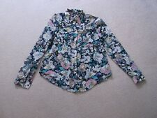 TFNC    size Small    MULTI  PATTERNED   GEORGETTE  long sleeve  SHIRT / BLOUSE