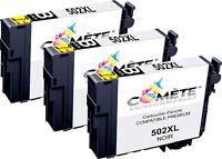 3 cartouche 502XL Compatible PREMIUM Epson XP-5100 XP-5105 XP-5115 WF2800 WF2860