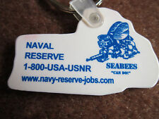 Seabees Tractor Key Ring CAN DO Naval Reserve Keychain Navy Other Side FREE SHIP
