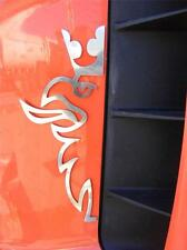 2 pcs. Half Griffin Decoration For SCANIA  Made Of Polished Stainless Steel