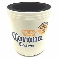 CORONA EXTRA White Metal Beer/Soda Can Cooler-Insulator Cup Holder-Brand New