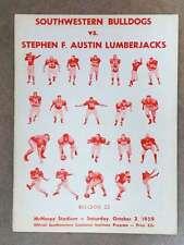 STEPHEN F. AUSTIN (TX) @ SOUTHWESTERN (LA) COLLEGE FOOTBALL PROGRAM - 1959 - EX