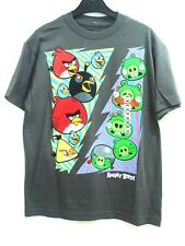 Angry Birds Gray Boy's Tee T-Shirt Size: YM