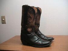 Mens 8.5 D Lucchese Classics Handmade Brown Exotic Lizard Western Cowboy Boots