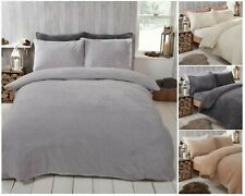 Teddy Fleece Duvet Cover with Pillow Case Thermal Warm Bedding Set