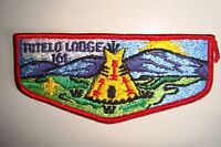 OA TUTELO LODGE 161 BLUE RIDGE MOUNTAINS COUNCIL PATCH RED BRDR TEEPEE FLAP