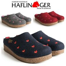 Haflinger Grizzly Cuoricini  Sweetheart Wool Felt Clogs Slippers