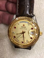 titoni mens watch Automatic Swiss Made Diamond Dial Splits Date ETA 2834 Rare