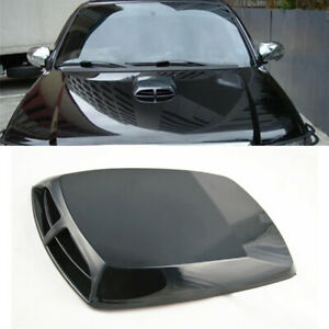 Black Car Truck Hood Scoop Vent Bonnet Cover Decorative Accessories Universal