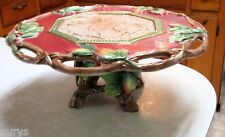 Fitz and Floyd China CHRISTMAS LODGE Footed Cake Stand - Holiday Ready!