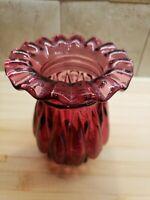 Vintage  Purple Hand Blown Glass Vase Bulbous