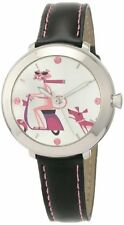 Pink Panther Women's PP01 40th Anniversary by Shag Black Genuine Leather Stra...