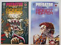 Predator vs. Magnus Robot Fighter #1 & #2 Dark Horse Valiant COMPLETE SET NM/MT
