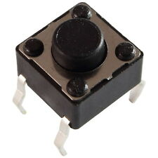 10 Diptronics DTS-62K-V Mini-Taster 12V 50mA 1xEIN 1N 6x5,0mm liegend 855605