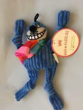 "HUGGLEHOUNDS WEE 6"" CHESHIRE BLUE RAINBOW CAT CORDUROY KNOTTIES DOG TOY PLUSH"