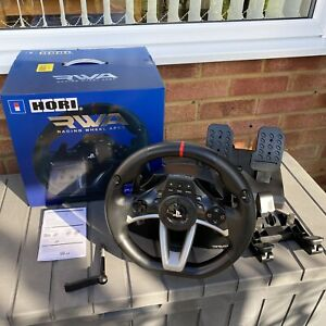 HORI RWA RACING WHEEL APEX PS4 PS3 Complete Gaming Wheel +Pedals +Box -Excellent