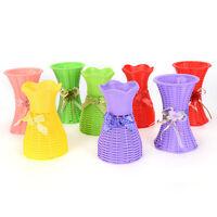 Reusable Plastic Flower Vase Basket Home Decoration Artificial Flower VasJB