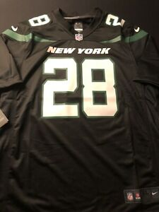 Nike New York Jets Curtis Martin Retired Player Black Game Jersey Size XL New