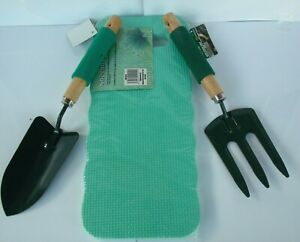 Garden Gardening Hand Trowel-Spade,Fork And Kneeling Cushion 3pc Set