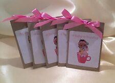 Sacchetto di tè 10x Baby Shower favorisce rosa, azzurro, etnica Baby SCELTA DEL GUSTO