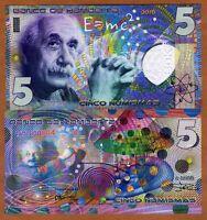 Kamberra,  5 Numismas, 2016, UNC > Einstein, New issue, Completely redesigned