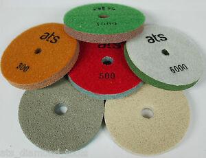 ATS Quartz Engineered Stone Rigid Diamond Polishing Sponge Pads 125mm