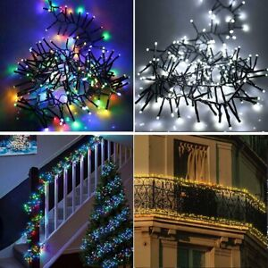 480/720/960/2000 LED Christmas Cluster String Lights Indoor/Outdoor Xmas fairy
