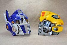 Transformers Optimus Prime & Bumblebee Talking Helmet Voice Changer Masks Hasbro