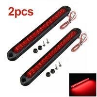2x 15-LED Strip Light Bar Truck Trailer Stop Turn Tail Reverse Backup Red Lamp