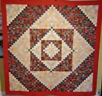 EYE GRABBING DIAMOND SHADOW ANTIQUE QUILT YORK COUNTY PA 1880 UNUSED