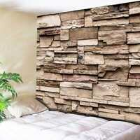 Art 3D Brick Pattern Tapestry Wall Hanging Tapestry Home Bedspread Home Decor