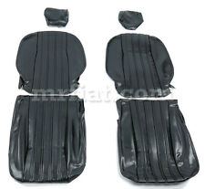 Fiat 124 Spider Black Seat Covers 79-82 New
