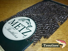 Metz Hen Saddle #1 Grizzly for Wings & Soft Hackle - Fly Tying Cape Feathers