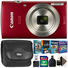 Canon PowerShot IXUS 185 / Elph 180 Camera Red with Photo Editing/Collection Kit