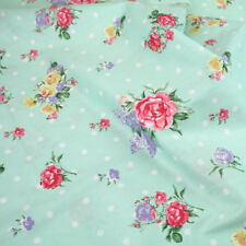 """Polka Dot Floral 100% cotton fabric Sold By the meter 63""""  width Dress Material"""