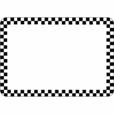 "Hubert® Vinyl Heat Resistant Write On Tag With Black Checks - 2 7/8""H x 4 1/8""L"