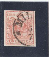 Esemplare singolo - 15 c. annullo Milano