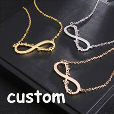 Personalized Custom Infinity Name Necklace Stainless Steel Heart Necklace
