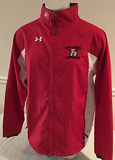 Red and White Under Armour Jacket Full Zipper Spalding Lacrosse Men's Large