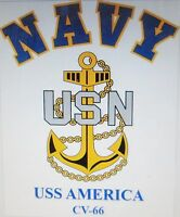 USS BON HOMME RICHARD  CV-31* AIRCRAFT CARRIER NAVY ANCHOR EMBLEM SWEATSHIRT