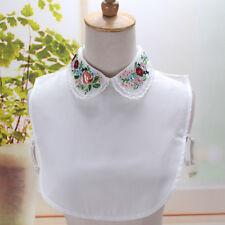 Women's Fake Half Shirt Blouse Collar Peter Pan Detachable Collar Cotton