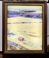Vintage 20 x 16 Wooden Light Up Acrylic Picture Frame- working, in great shape