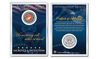 United States MARINE Emblem JFK Kennedy Half Dollar U.S. Coin with 4x6 Display