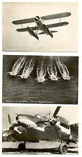 NEDERLAND LUCHTVAART AVIATION 3 x FOTO  PPC  PLANES   VF