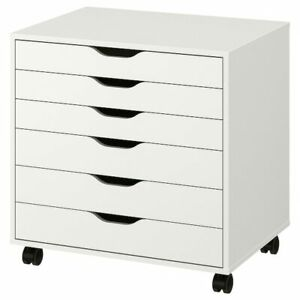 """IKEA ALEX Drawer unit on casters, white 26 3/8x26"""" NEW 804.854.23"""