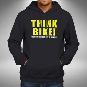 Think Bike Adult Hoodie Superbike Motorbike Bikes Road Bike Biker Race
