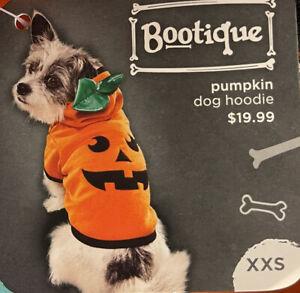 New Bootique Halloween Pumpkin Dog Hoodie Fleece XXS