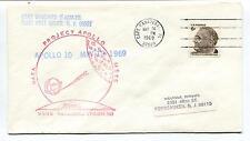 1969 Apollo 10 Project USNS Vanguard Cape Canaveral Florida Space Cover